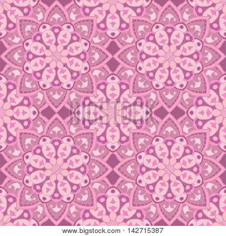 Decorative seamless pattern in beautiful lavender colors. Vector background. Can be used for wrapping paper, scrapbooking, print, invitation and other