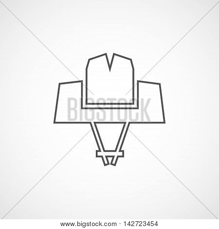 Vector line geometrical cowboy hat icon. Isolated line icon for logo web site design app UI.
