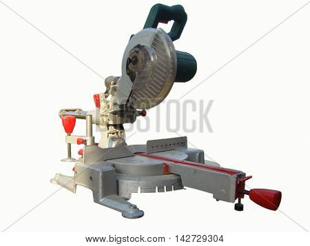 mitre saw professional tool on a white background
