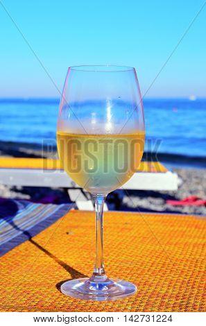 prosecco aperitif white wine albissola savona italy