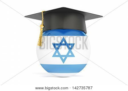 education in Israel concept 3D rendering isolated on white background