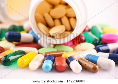 Composition With Variety Of Drug Pills And Containers