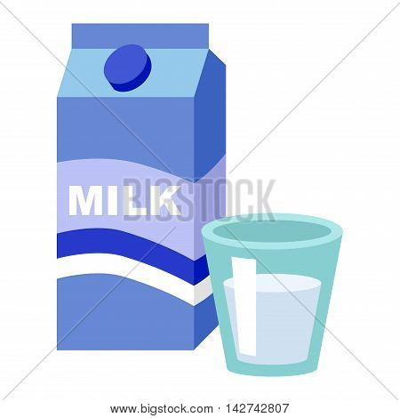 Milk carton box with screw cap. Paper milk box packaging beverage drink design. Carton paper food blank cardboard template milk box liquid cap. Retail fresh bottle store container graphic packaging.