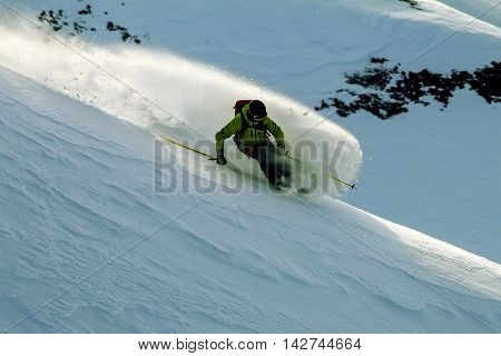 Freeride in wild mountains of Kamchatka, april 2013