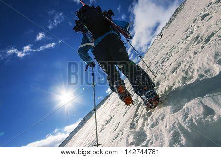 Freerider climbing a mountain dutch angle, , september 2013