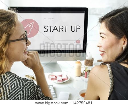 Business Startup Launch Strategy Vision Concept