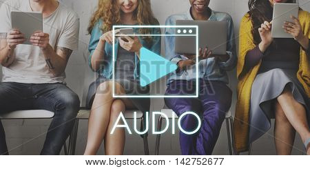 Media Audio Player Blog Concept
