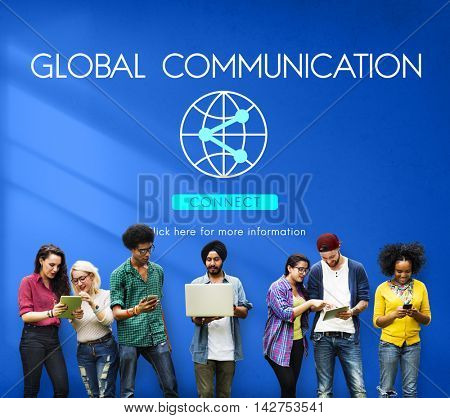 Global Communication Technology Internet Connect Concept