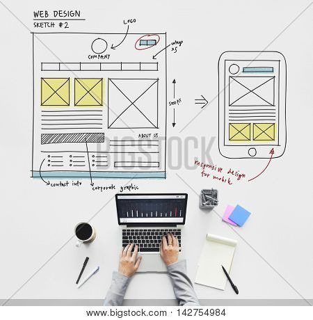 Web Design Online Technology Content Concept