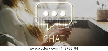 Chat Message Social Network Texting Graphic Concept