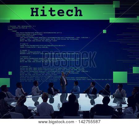 High Technology Development Programming Electronic Concept
