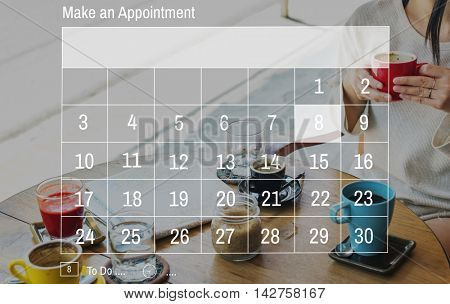 Calendar Agenda Month Memo Reminder Planning Concept