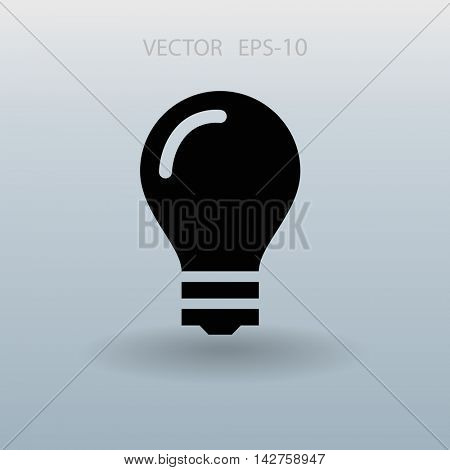 Flat icon of bulb
