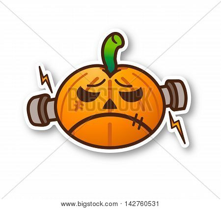 Halloween Pumpkin - Cute Monster with shadow