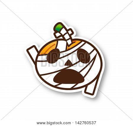Halloween Pumpkin - Cute Mummy with shadow
