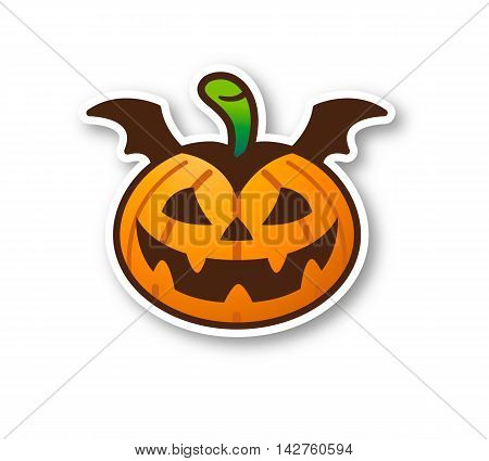 Halloween Pumpkin - Cute Vampire with shadow