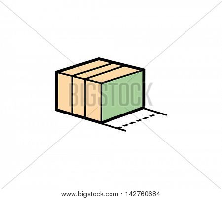 Box parcel delivery icon. Vector illustration of parcel box