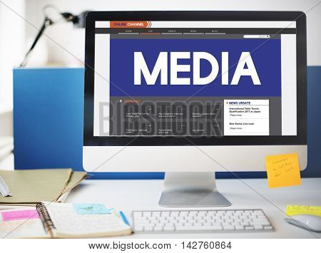 Live Broadcast Media News Online Concept