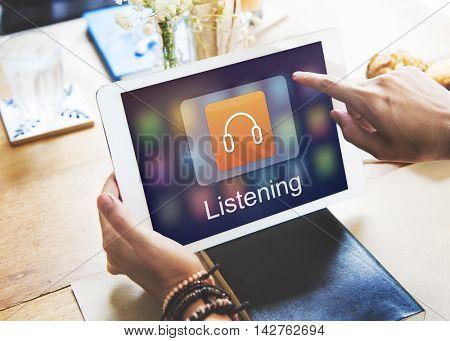 Digital Music Streaming Multimedia Entertainment Online Concept