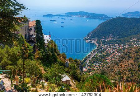 View From Eze Over The Mediterranean Coast