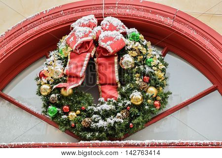 Christmas Decoration Evergreen Wreath