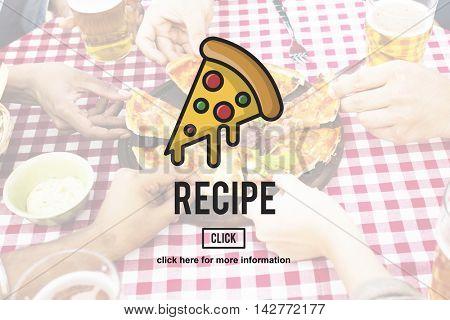 PIzza Slice Junk Food Obesity Calories Concept