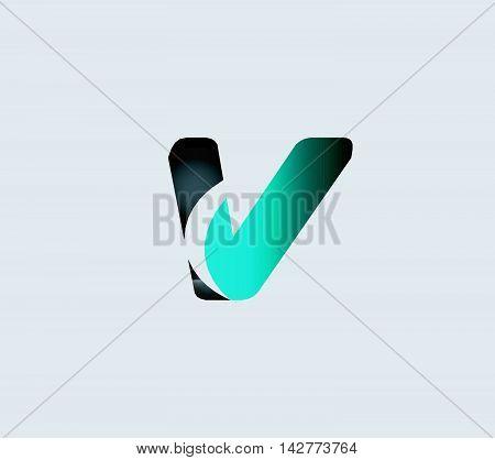 Letter V logo. Letter V logo icon design template elements