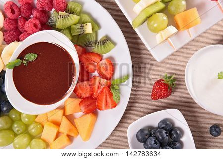 fruit and chocolate dip