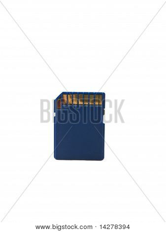 Memory Card Isolated On White Background