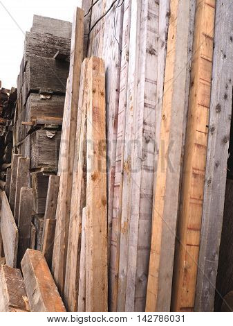 Timber and slab board in the store