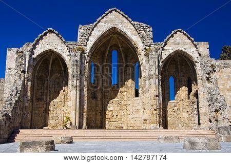 Church of the Virgin of the Burgh. Greece Rhodes.