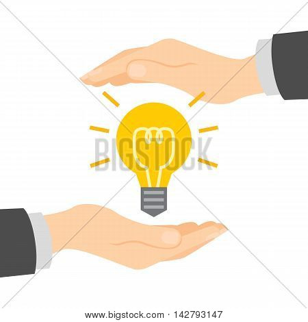Good idea protection. Insurance of innovative ideas. Private ideas security.