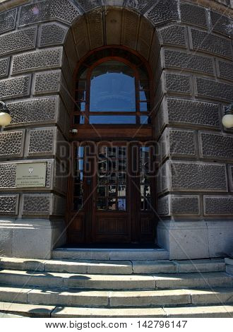 BELGRADE, SERBIA - AUGUST 15, 2016: Building of Ministry of Foreign Affairs of Republic of Serbia, Belgrade