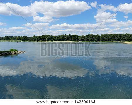 The River The Loire Close To Le Cul Du Moulin