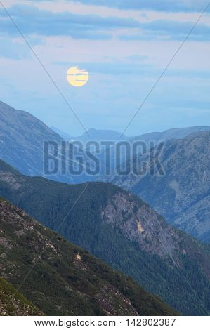 Moonrise In The Mountains
