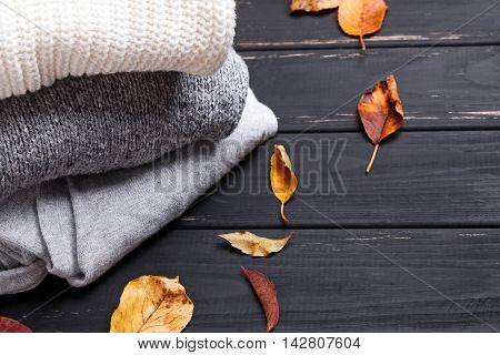Cozy Sweaters And Autumn Leaves