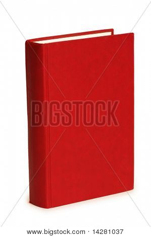 Red book isolated on the white background