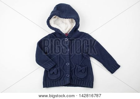 Cute knitted vest for children. Winter clothes
