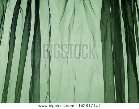 Voile curtain background green French lace background