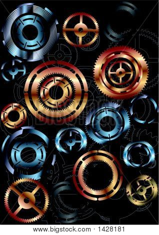 These are a lot of colorful gears poster