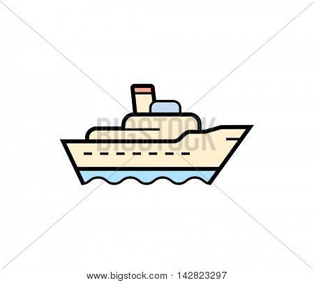 Ship cargo icon. Vector illustration of shipping