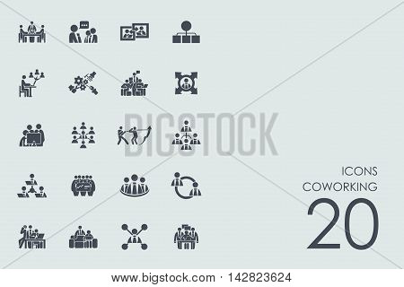 coworking vector set of modern simple icons