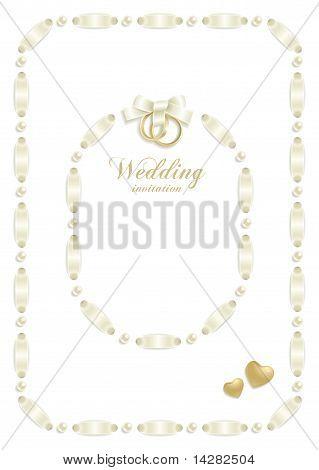 Wedding ribbon frame set 1