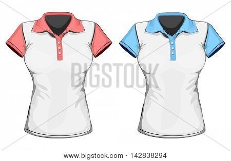 Women's polo-shirts. Vector illustration.
