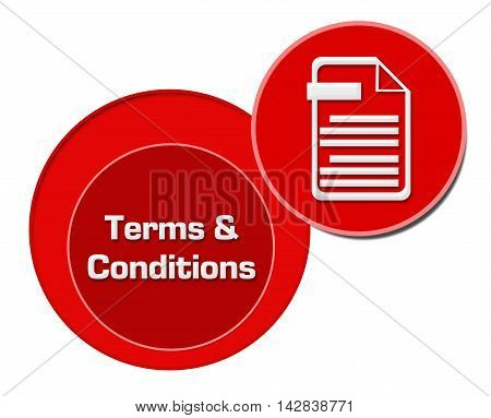 Terms and conditions concept image with text and related symbol.