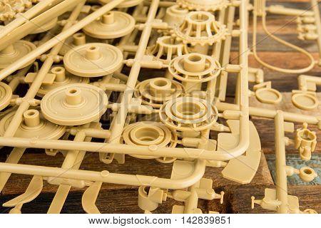 Part of plastic model kit - Stock image macro.