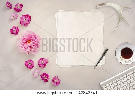 Styled mock up flatlay stock photography copy space for your business social media blog message or design perfect for lifestyle bloggers or to announce an event wedding or party
