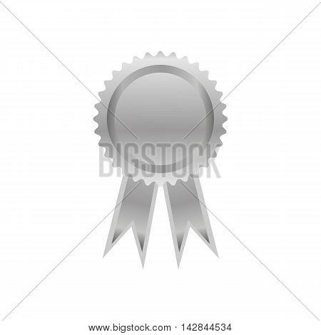 medal silver ribbon award  symbol win champion event