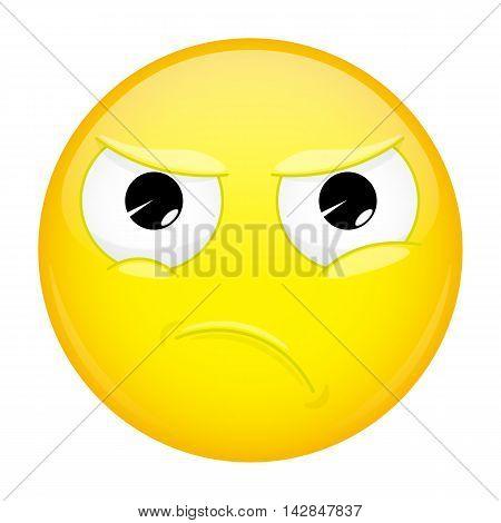 Angry emoji. Evil emotion. Wicked emoticon. Illustration smile icon.