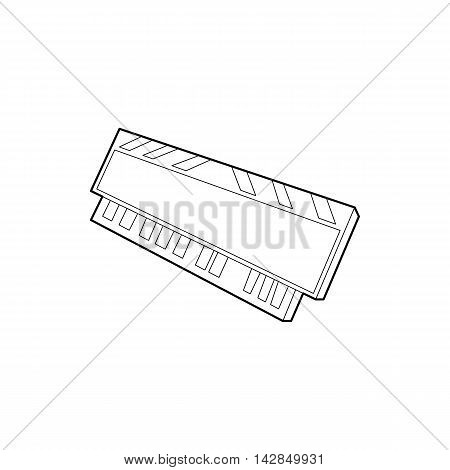 DVD RAM module for the personal computer icon in outline style on a white background